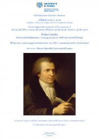lectio magistralis - Memoria e autorappresentazione nei libri commemorativi bodoniani