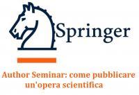 Springer Author seminar come pubblicare un'opera scientifica