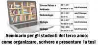 Workshop tesi Bioscienze